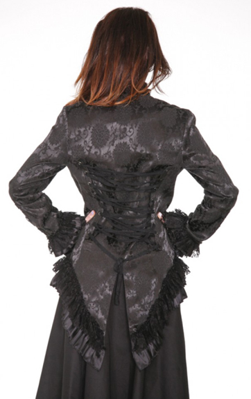 Hearts and Roses Brocade Gloria Tail Jacket