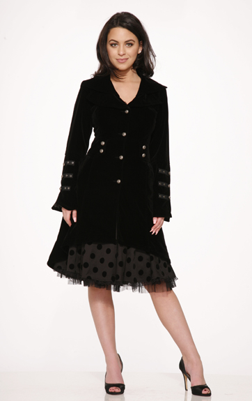 Hearts and Roses Brocade Hearts and Roses Blair Velvet Coat