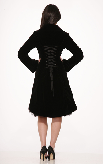 Hearts and Roses Blair Velvet Coat
