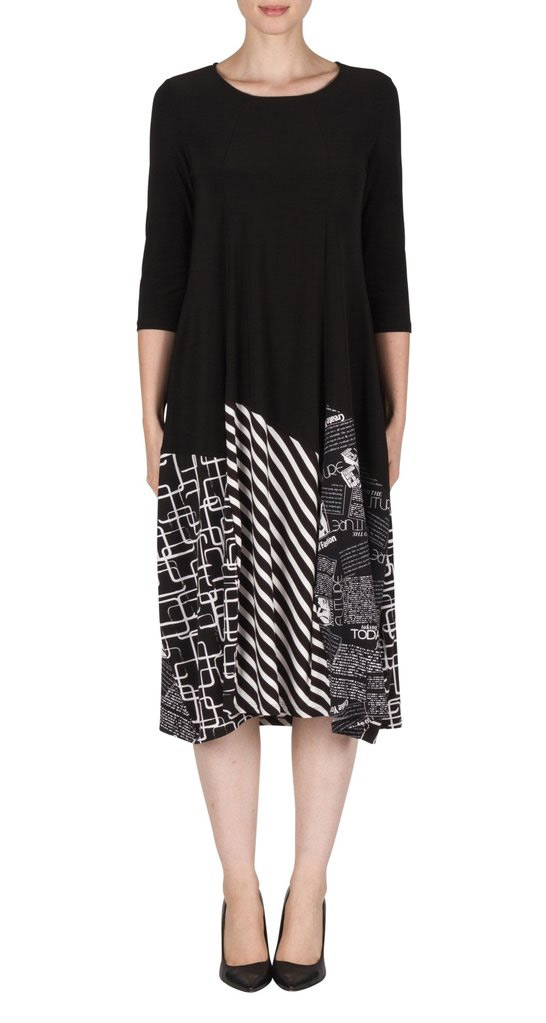 Joseph Ribkoff Print Balloon Hem Dress