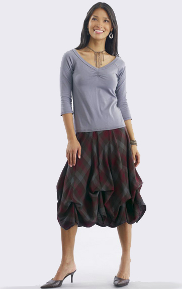 Luna Luz Garment Dyed Center Ruched Top