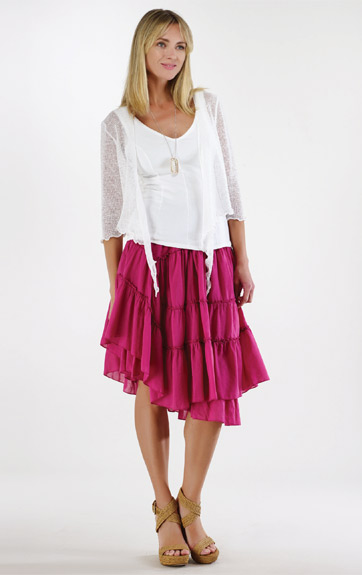 Luna Luz Positano Tiered Ruffled Skirt