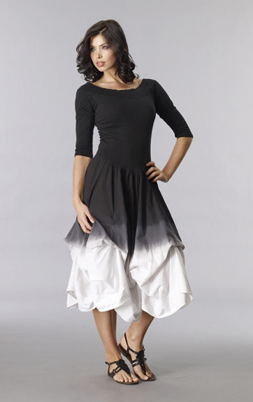 Luna Luz Ombre Off Shoulder Dress with Interior Ties