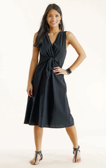Luna Luz Garment Dyed Tie Front Dress