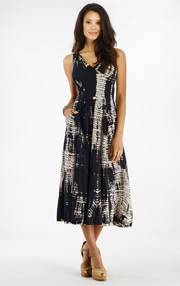 Luna Luz Bamboo Long Cross Over Bodice Dress