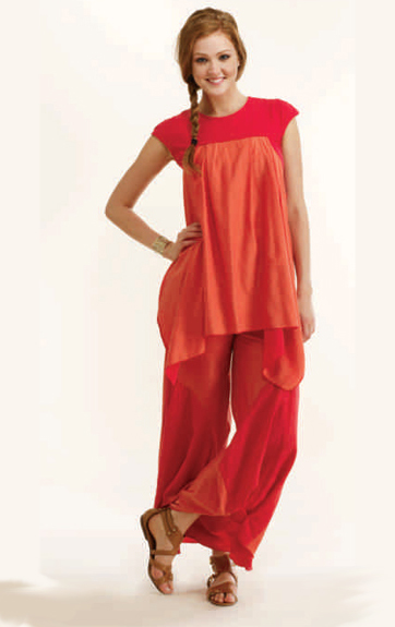 Luna Luz Cotton Silk and Cotton Lycra Tunic and Silk Cotton Pants