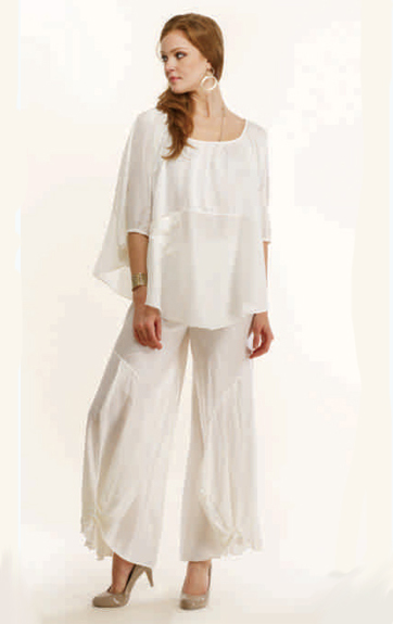 Luna Luz Cotton Silk and Cotton Lycra Poncho and Pant