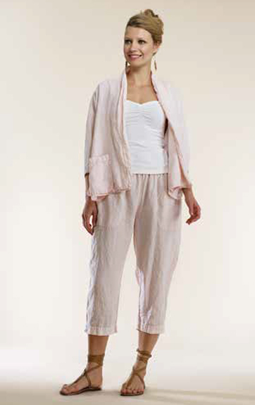 Luna Luz Garment Dyed Linen Jacket and Cropped Pant
