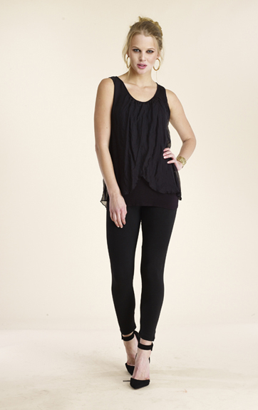 Luna Luz Silk Double Panel Tank Top