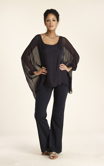 Luna Luz Silk Pocho and Silk Pant