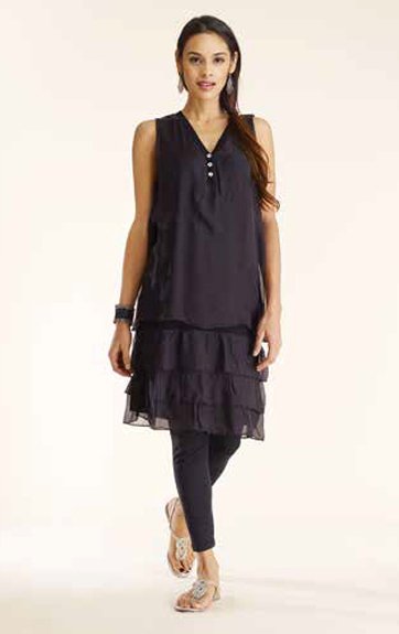 Luna Luz Silk Tunic and Garment Dyed Leggings