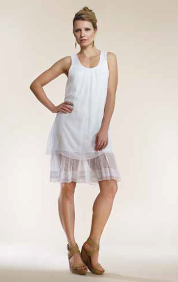 Luna Luz Silk Tank Tunic Dress