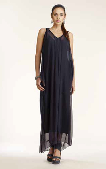Luna Luz Silk Maxi Dress