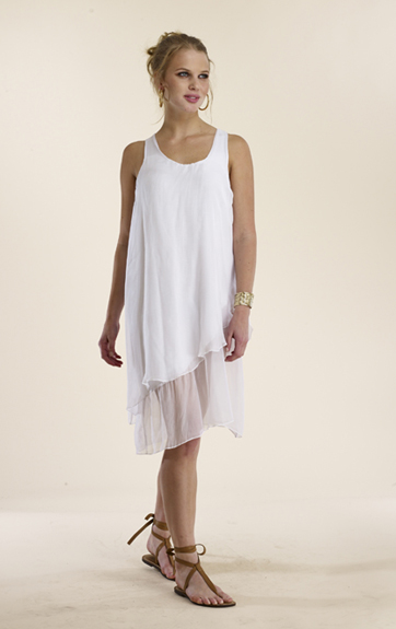 Luna Luz Silk Tank Dress