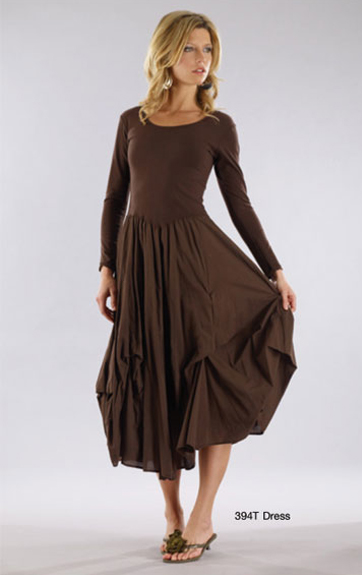 Luna Luz Garment Dyed Long Sleeve Dress with ties