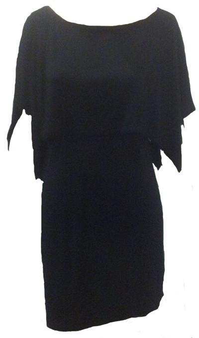 Nally & Millie Dress with Cape Detail