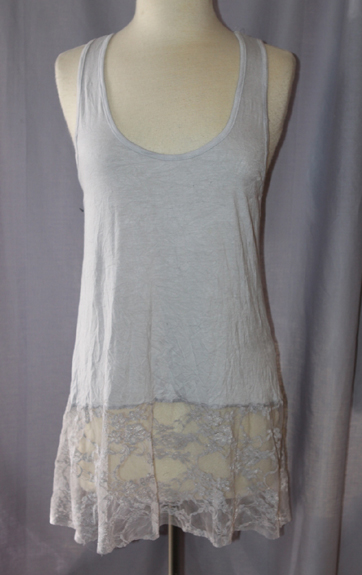 Surrealist Hudson Tank with Lace Bottom