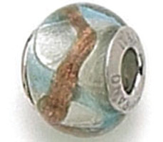 Zable Silver Blue Murano Glass Bead
