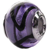 Zable Purple Murano Bead