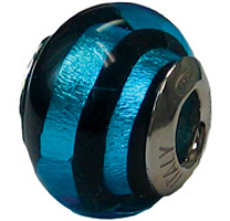 Zable Blue Zebre Murano Glass Bead