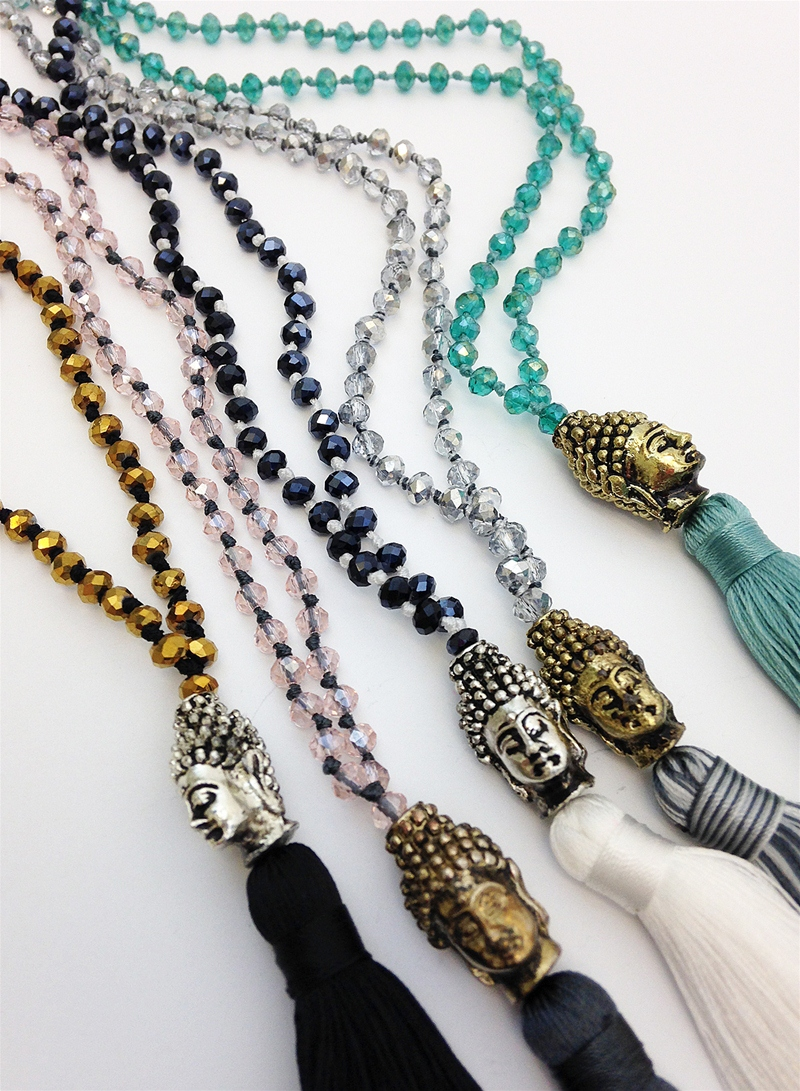 Zacasha Tassel Necklace with Buddha Charm