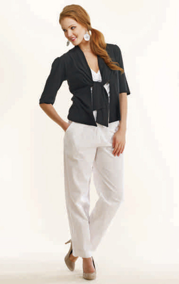 Luna Luz Garment Dyed Front Jacket, Shirred Bra Top and Soft Yoke Pant