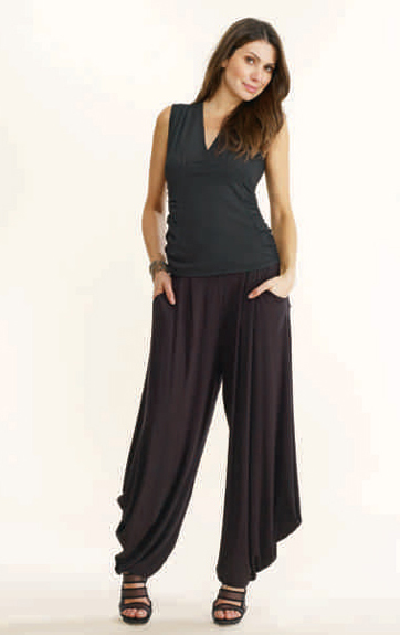 Luna Luz Garment Dyed Center Ruched Tank and Johphur Wide Leg Pant