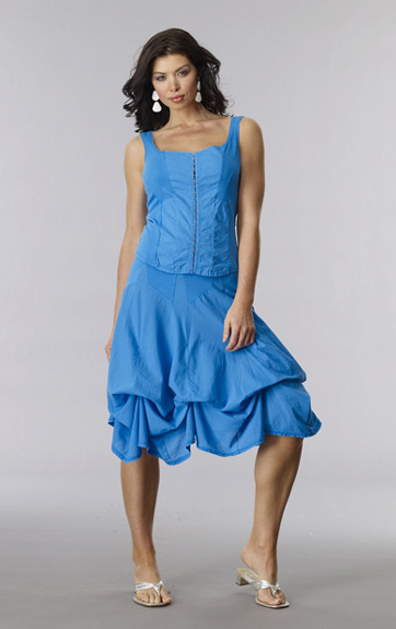 Luna Luz Garment Dyed Princess Top and Tie Up Skirt