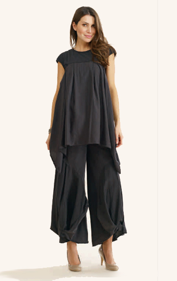 Luna Luz Cotton/Silk and Cotton/Lycra Tunic and Pant